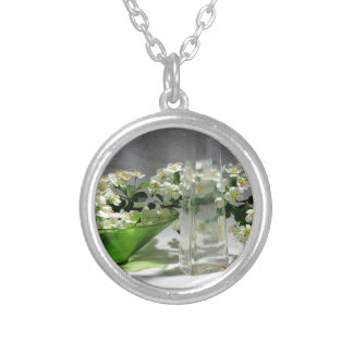Composing Spring Silver Plated Necklace