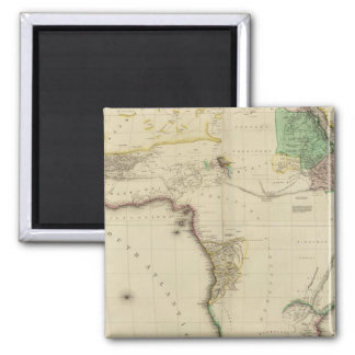 Composite Africa 2 Inch Square Magnet