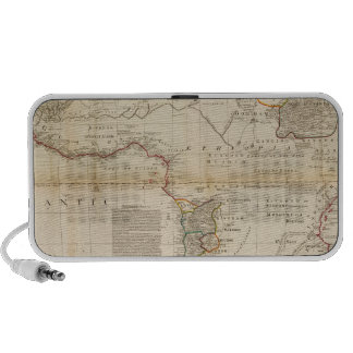 Composite Africa hand colored map Mp3 Speakers