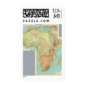 Composite Africa with shipping routes Postage