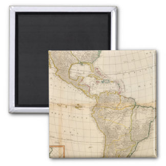 Composite America hand colored map 2 Inch Square Magnet