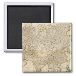 Composite Asia hand colored map 2 Inch Square Magnet