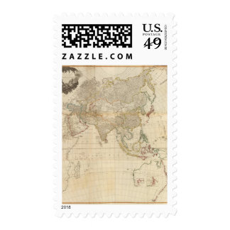 Composite Asia hand colored map Postage