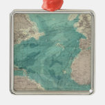 Composite Atlantic Ocean Square Metal Christmas Ornament