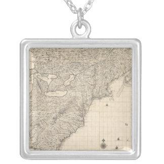 Composite British Empire in America Silver Plated Necklace