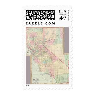 Composite Calif, Nevada Postage