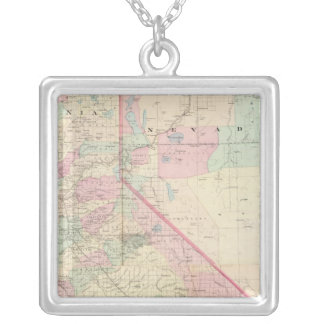 Composite Calif, Nevada Silver Plated Necklace