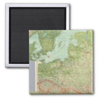 Composite Central Europe 2 Inch Square Magnet