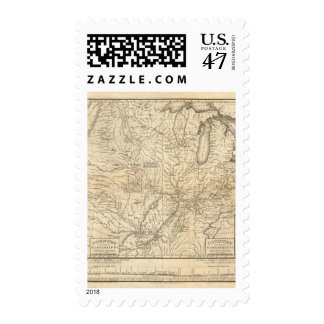 Composite Country drained by the Mississippi Postage