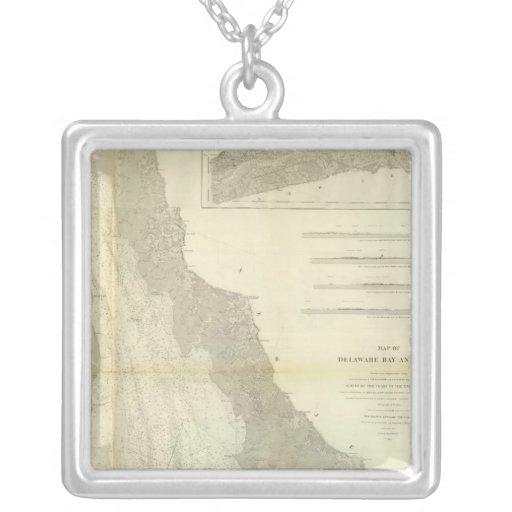 Composite Delaware Bay, River Square Pendant Necklace