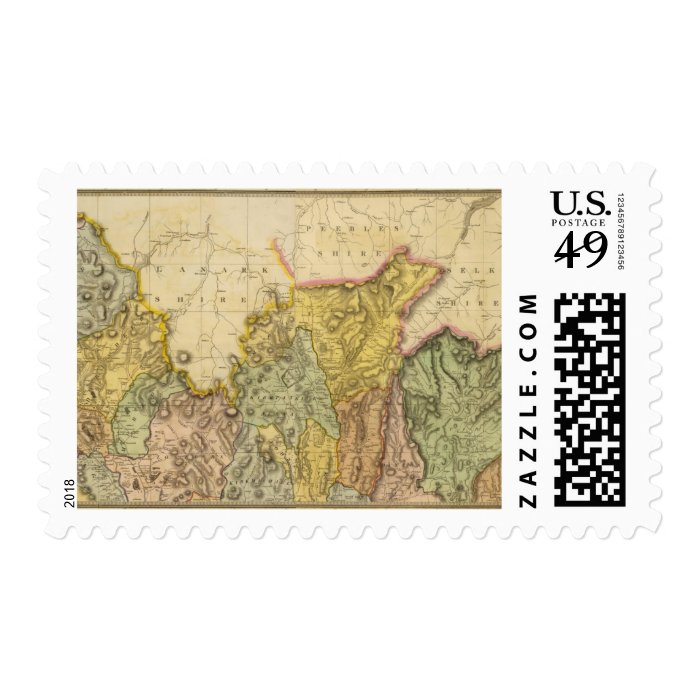 Composite Dumfriesshire 3 Postage Stamp