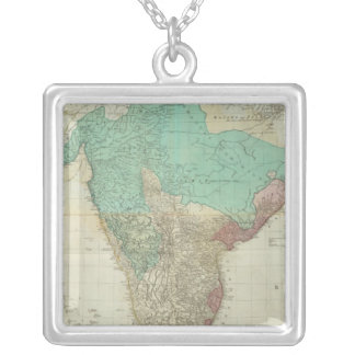 Composite East Indies with roads Square Pendant Necklace