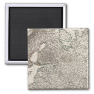 Composite Eastern Europe, Norway, Sweden 2 Inch Square Magnet
