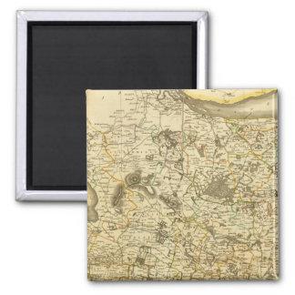 Composite Fife, Kinross 2 Inch Square Magnet