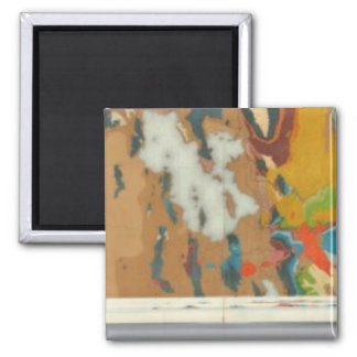 Composite Geological maps IV, 40th Parallel Survey 2 Inch Square Magnet