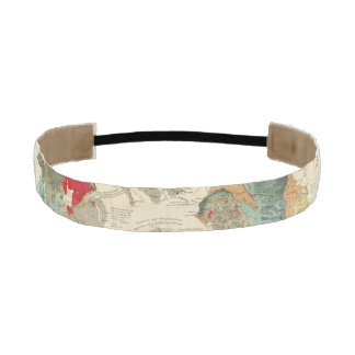 Composite Geological, palaeontological map Athletic Headband