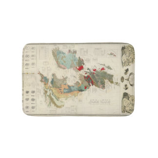 Composite Geological, palaeontological map Bathroom Mat
