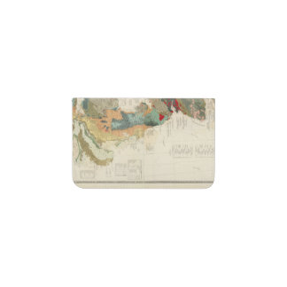 Composite Geological, palaeontological map Business Card Holder
