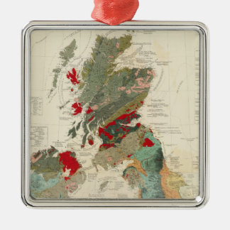 Composite Geological, palaeontological map Metal Ornament