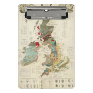 Composite Geological, palaeontological map Mini Clipboard