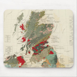 Composite Geological, palaeontological map Mouse Pad