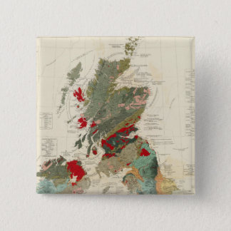 Composite Geological, palaeontological map Pinback Button