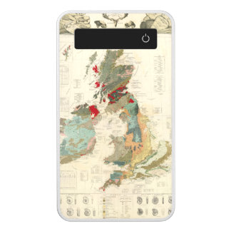 Composite Geological, palaeontological map Power Bank