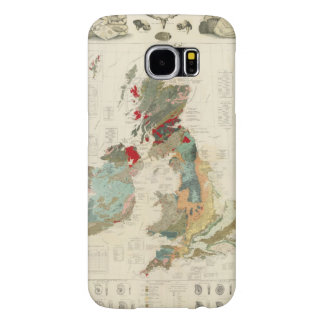Composite Geological, palaeontological map Samsung Galaxy S6 Cases