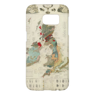 Composite Geological, palaeontological map Samsung Galaxy S7 Case