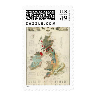Composite Geological, palaeontological map Stamp