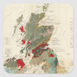 Composite Geological, palaeontological map Sticker