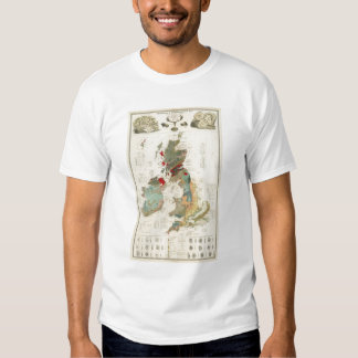 Composite Geological, palaeontological map T Shirt