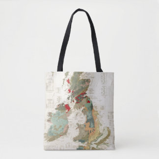 Composite Geological, palaeontological map Tote Bag