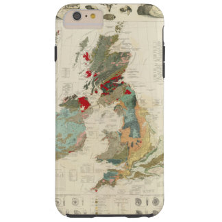 Composite Geological, palaeontological map Tough iPhone 6 Plus Case