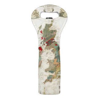 Composite Geological, palaeontological map Wine Bags
