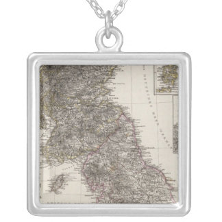 Composite Great Britain Square Pendant Necklace