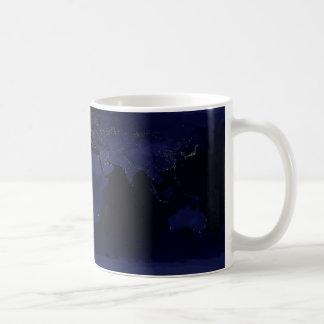 Composite image of the Earth at night. Coffee Mug