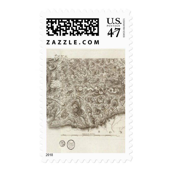 Composite Map of France 2 Postage Stamp