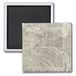 Composite Map of France 3 2 Inch Square Magnet