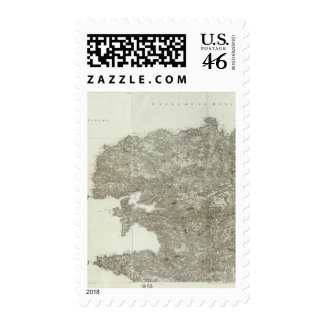 Composite Map of France 6 Stamps