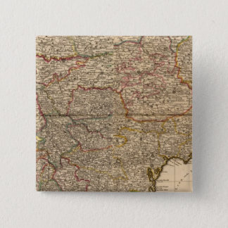Composite map of french settlements pinback button