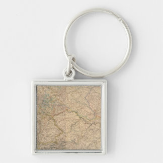 Composite Map of Germany Keychain