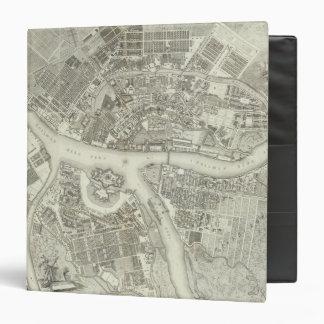 Composite Map of Saint Petersburg 3 Ring Binder