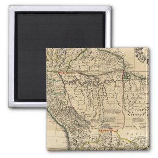 Composite map of South America 2 Inch Square Magnet