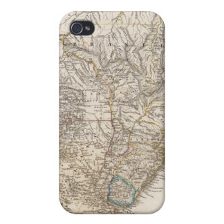 Composite Map of South America iPhone 4 Case