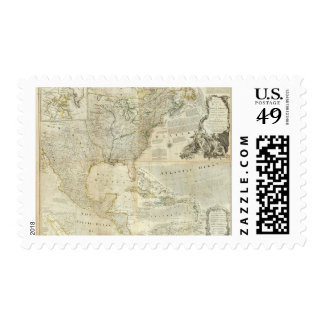 Composite North America Postage Stamp