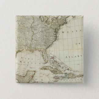 Composite North America, West India Islands Pinback Button