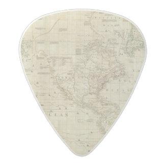 Composite North & South America Acetal Guitar Pick