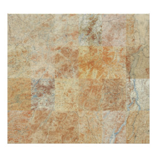 Composite of 24 Adirondack Topographic Maps Poster
