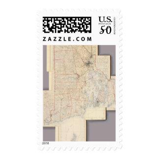 Composite Rhode Island Map Postage